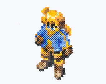 Final Fantasy Tactics Ramza Beoulve Perler Bead Magnet Playstation