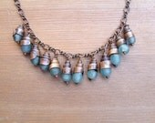 Recycled Glass & Copper Necklace