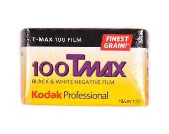 Kodak T-Max 100, 100TMX, Black & White Negative Film ISO 100, 35mm Size, 24 Exposure Black and White film noir
