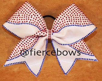 Double Up Rhinestone Cheer Bow