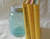Yellow Vintage Book Set