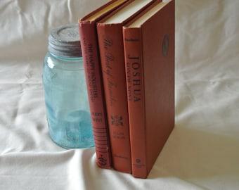 Brick Red Vintage Book Set
