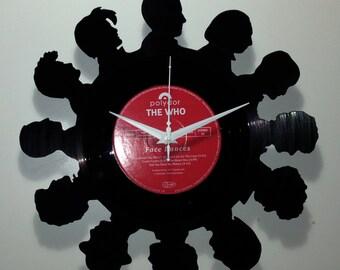 Dr Who (12 Doctors) Vinyl Record Clock