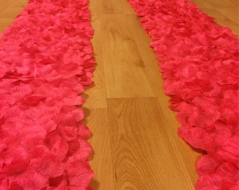 Rose petal aisle runner border