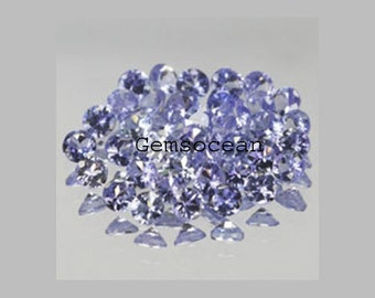 Lot Of Stunning AAA QualitY 25 Pieces Natural Tanzanite 2x2 MM Round Faceted (Normal Cut) Loose Gemstone