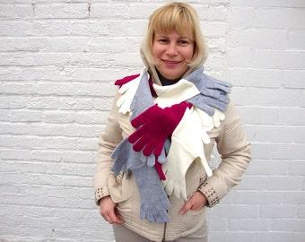 Womens scarf winter scarf long shawl warm wrap unique shawl boho wrap scarf long stole women neck warmer unique gift for her modern scarf