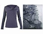 Womens tops - womens shirt, Long sleeve shirt, women's blouses , grey shirt,  grey blouse