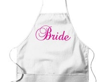 BRIDE Apron! For the Woman who loves to COOK! Great for a Bridal Shower. Inexpensive, Funny & Trendy UNISEX Bib Aprons GH_01747_apron