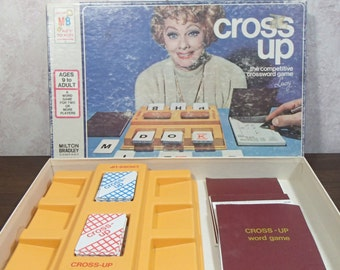 1974 Cross Up Endorsed by Lucille Ball, Milton Bradley Game