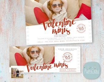 Valentine Mini Sessions - Marketing Board and Facebook Timeline Bundle - Photoshop templates - IV014 - INSTANT DOWNLOAD