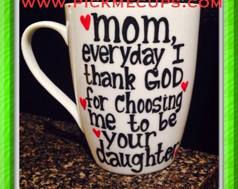 Blessing- Thank God - Mother's Day Mom Mother's Day Coffee- Mother Daughter Mug - gift for my mom - gift for mother - mother's gift