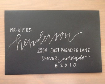 Custom Wedding Calligraphy - Envelope Addressing