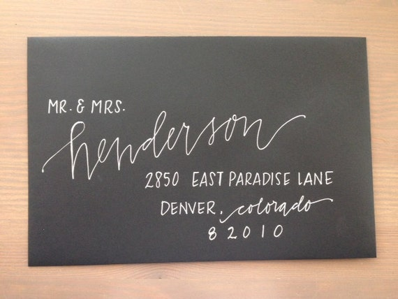 Custom Wedding Calligraphy Envelope Addressing From