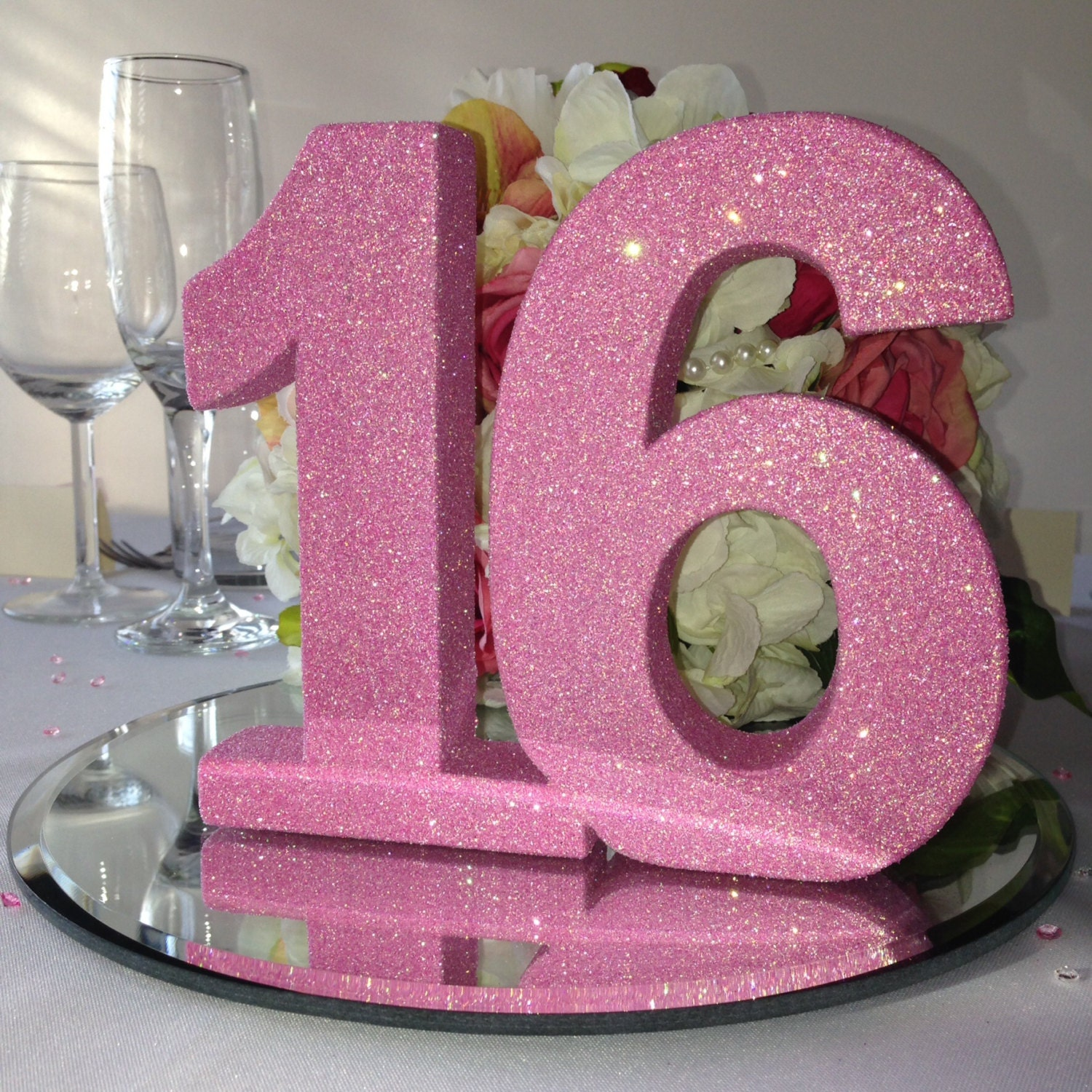 Sweet 16 baby pink birthday party decoration freestanding for 16th birthday decoration