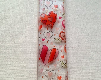 Hanging Heart Sun Catcher, Housewarming Gift Idea, Wedding Gift for Couples, Wife Gift, Romantic Gift Ideas, Fused Glass