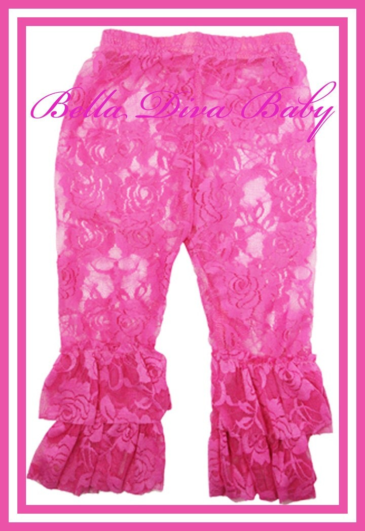 Ruffle Lace Leggings Baby Lace Legging Toddler By BellaDivaBaby