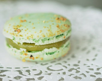 You're Lovely - Pistachio Macaron Photo, Pastel Green Decor, Art For Kitchen, Food Photography, Macaron Decor, Gift For Her, Photo Gift