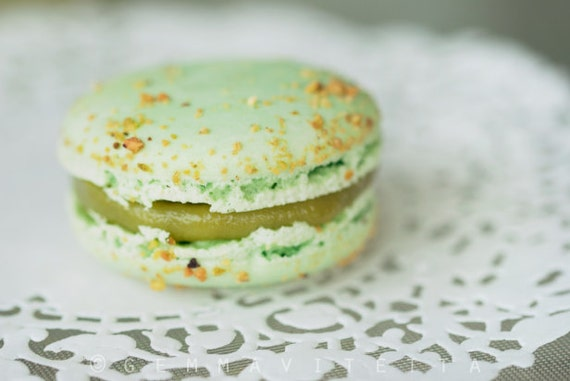 Pistachio Macaron, Food Photo // Still Life, Fine Art Photo, Pastel Green, French Macaron, Macro Food, Kawaii, Kitchen Art - 8x8/8x12/10x15