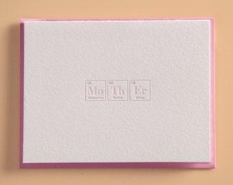 Mother Letterpress Greeting Card
