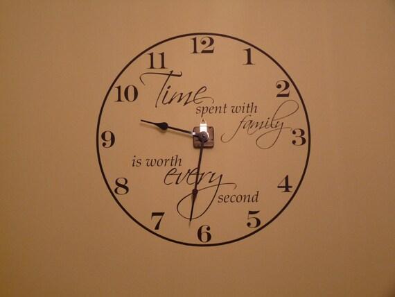 Items Similar To Wall Clock Vinyl Decal Large Clock