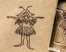 Fairy Stamp - 2 x 2 Inches - Fairy Stamp - Elf Stamps - Fairy Rubber Stamp
