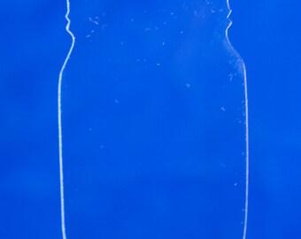 Mason Jar Clear Acrylic Key Chain Blanks 3 inch tall Set of 10 mason jar Keychains - mason jar keychain blanks