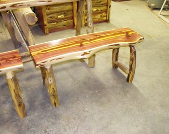 Created for jonny a Red Cedar. Bench Made to order