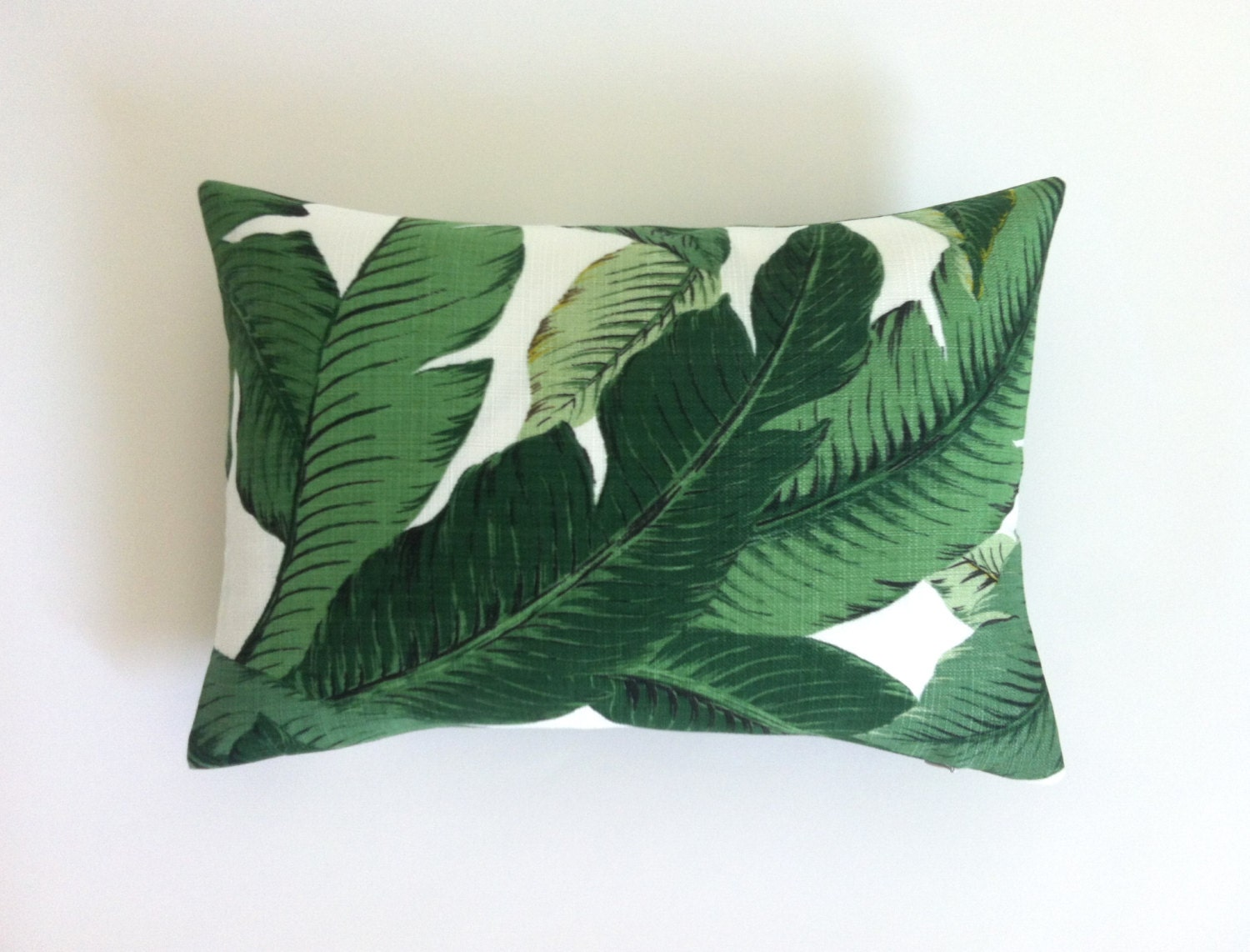 One Tropical Banana Palm Pillow Cover Leaves Outdoor Pillow