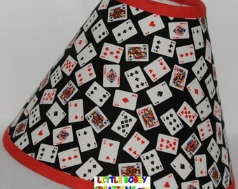 Casino Poker Jackpot Gaming Las Vegas Fabric Lamp Shade  (10 Sizes to Choose From!)