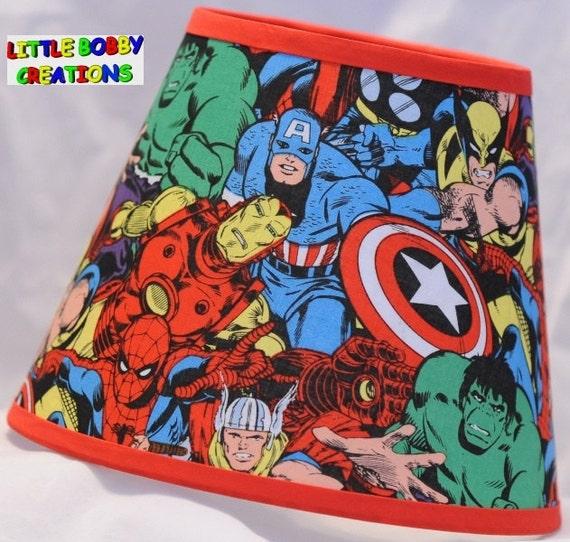Marvel Super Heros Captain America The Hulk Fabric Lamp Shade