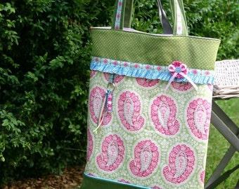 BeutelTasche 'Paisley' - pink-green