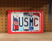 USMC Custom Recycled LICENSE Plate Art Sign US Marines