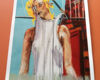 """Fredo Sutton Poster """"Blonde hung out to dry (1977)"""""""