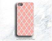 iPhone 5C Case Coral, iPhone 5s Case Geometric, iPhone 4 Case, Color Pattern iPhone 4s Case, Geometric iPhone Case, Peach iPhone Cover I42