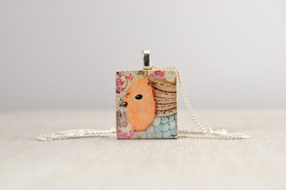 Whimsical Wildlife Scrabble Tile Necklace