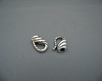 Silver Metal Clasp for 5mm round cord/3393