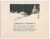Snowy Single-Panel Christmas Card, c.1928