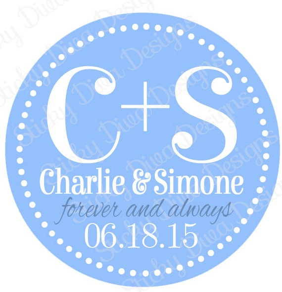 Personalized Wedding Gift Tag Stickers : PERSONALIZED WEDDING STICKERS - Gift Tag Wedding Monogrammed Labels ...