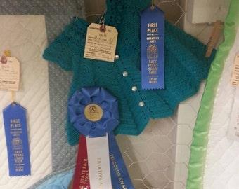 Heirloom Turquoise Crochet Dress