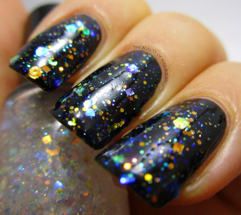 Opal Glitter Nail Polish: Diamond Ring Opal Glitter Iridescent Nail Polish Aurora