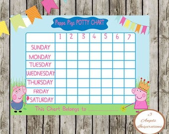 Potty Training Reward Chart Peppa Pig Overnight Pull Ups