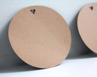 50pcs Round kraft tags, Country wedding tags, Rustic wedding favors, Rustic party favors, Kraft gift tags, Kraft paper tags, Brown gift tags