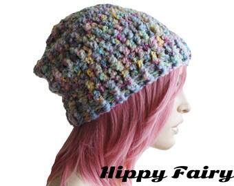 Boho beanie ,bohemian beanie,bohemian hat, womans hat, crochet slouch beanie ,slouch beanie