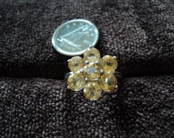 Chuck Clemency NYC II Yellow Citrine 4g Sterling Silver Ring (5)