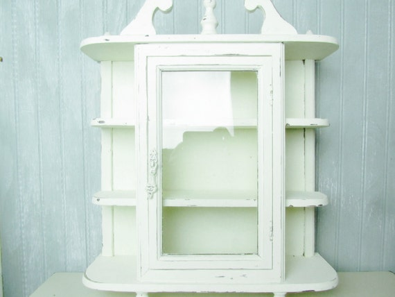 Shabby Chic Cabinet Curio Cabinet Wall By Karenschicnshabby
