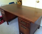Mid Century Desk Marble Imperial Furniture Company