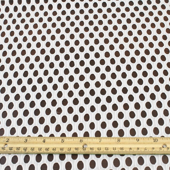 Off white fishnet lace fabric by the yard or wholesale for Cheap fabric by the yard
