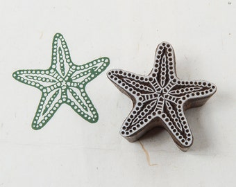 Starfish, wooden printing block