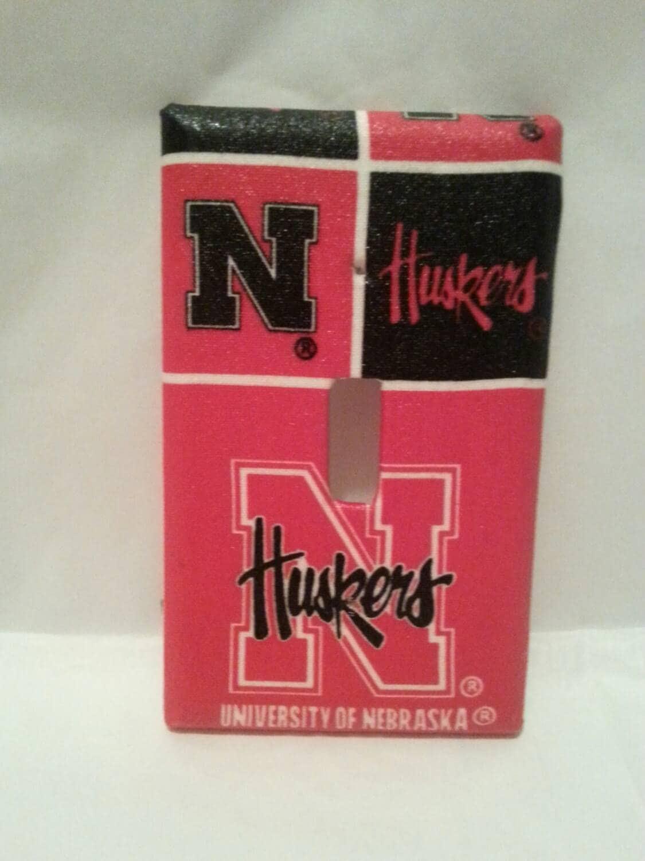 Corn Huskers Fan Light Switch Cover Nebraska College Sports