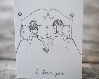 Texting I Love You card, Valentine's Day card, Anniversary card, Just saying I Love You card